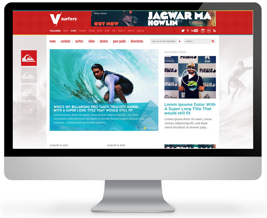 Surfing news desktop site