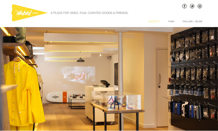 Web Design Concept Store for byWalksi