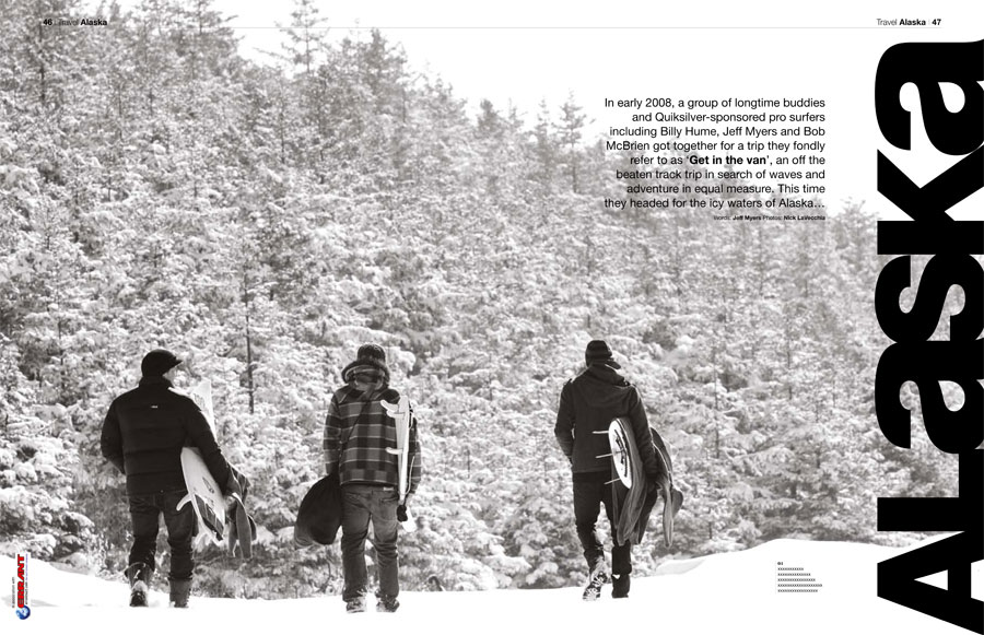 Alaska feature for Drift Surfing Magazine