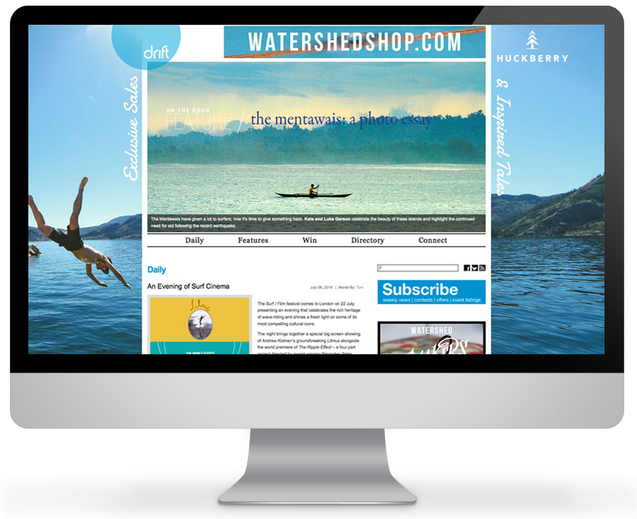 Exclusively online surfing magazine